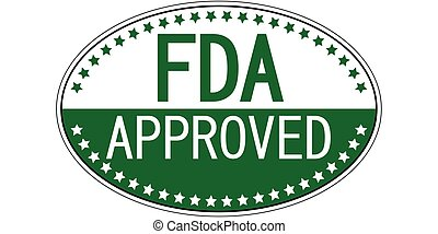 FDA approved oval sticker - FDA approved sticker, Food and...