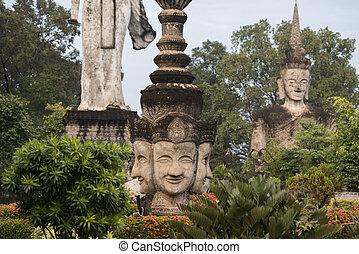 THAILAND ISAN NONG KHAI SALA KAEW KU SCULPTURE PARK - the...