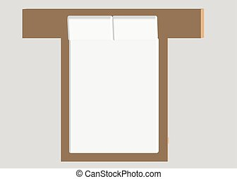 Home furniture - bed. Interior element Bedroom. Vector...