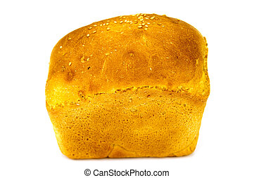 grain corn bread, isolated on white background