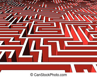 Labyrinth - Huge and endless labyrinth of walls