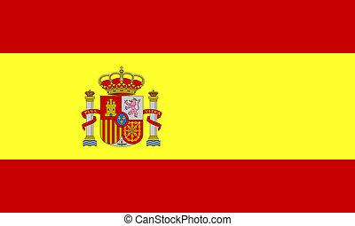 flat spanish flag
