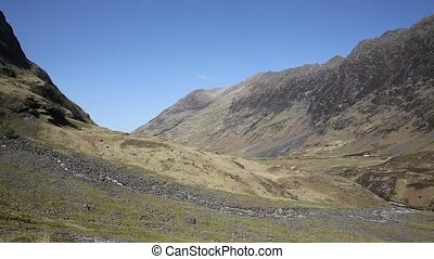 Sunshine in spring Glencoe Valley Scotland UK - Glencoe...