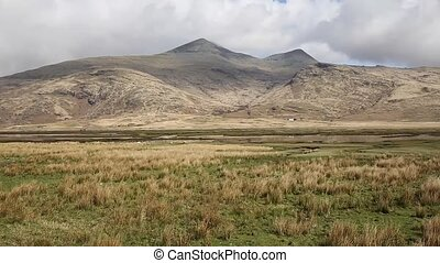 Isle of Mull Scotland UK rural countryside scene with view...