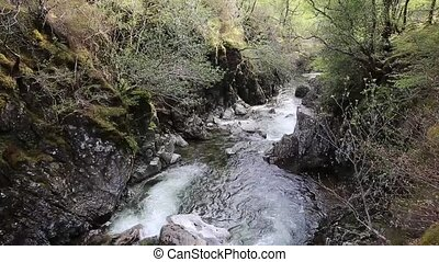 River Clachaig Glencoe Scotland UK Scottish country scene in...