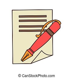 pen with contract icon