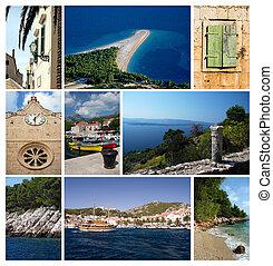 Photos from city Bol on island Brac, Croatia, Dalmatia