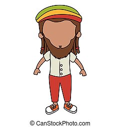 jamaican man character icon vector illustration design