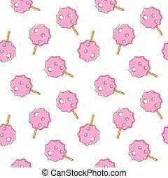 seamless pattern cotton candy white - Seamless pattern...