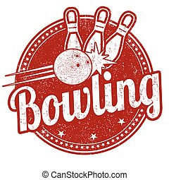 Bowling sign or stamp