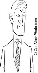 black and white politician cartoon - Black and White Cartoon...