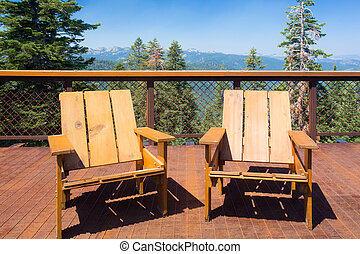 Deck Chairs Mountains