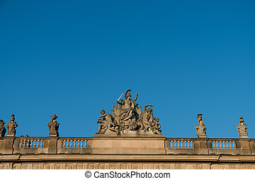 sculptures on historic building in, Berlin
