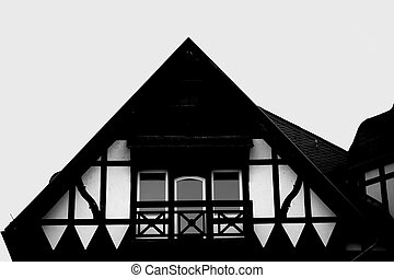 Roof Gable Half-timbered house