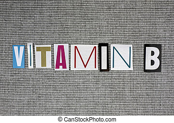 vitamin B concept - vitamin B on grey background, medical...
