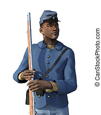 African American Civil War Union Soldier