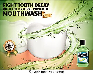 clean mouthwash ad - mouthwash freshen breath ad, contained...