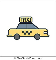 taxi icon color illustration design