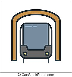 subway icon color illustration design