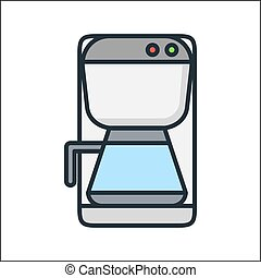coffee machine icon color