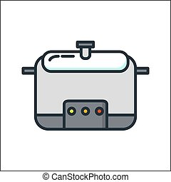 multi cooker icon color