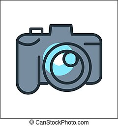 digital camera icon color