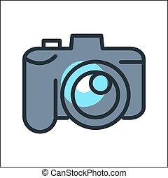 digital camera icon color