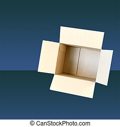 Open Box with copy space