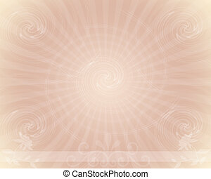 Trendy Starburst Background Design with floral and copyspace