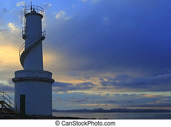 La Savina port lighthouse Formentera sunset balearic islands