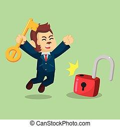 business monkey successfully unlocking lockpad