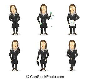 BusinessWoman - A Little Crazy Business wooman. Set. 6...
