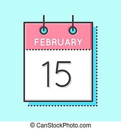 Vector Calendar Icon. Flat and thin line vector calendar...