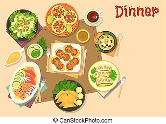 Popular appetizers icon for healthy food design - Popular...