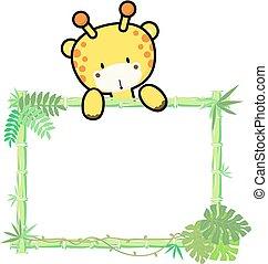 baby giraffe bamboo frame