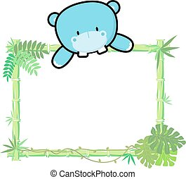 baby hippo bamboo frame