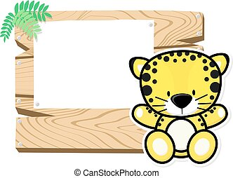 cute baby jaguar frame