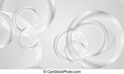 Abstract grey glossy circles video animation - Abstract grey...