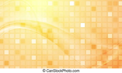 Abstract squares mosaic and waves video animation - Abstract...
