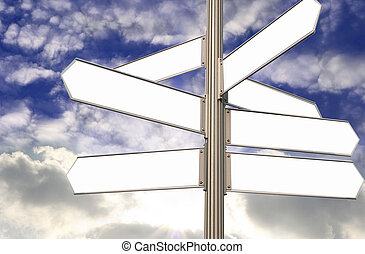 em branco, rua, direção, 3