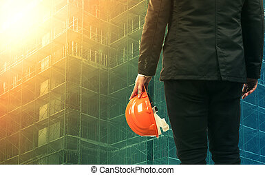civil engineering man working in construction site