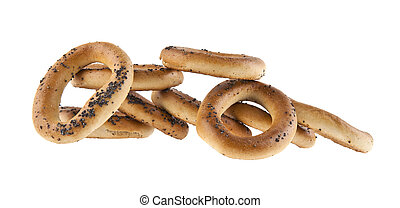 bagels isolated on white background closeup