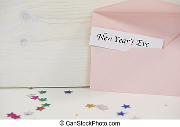 Two envelopes with  New Years Eve decoration
