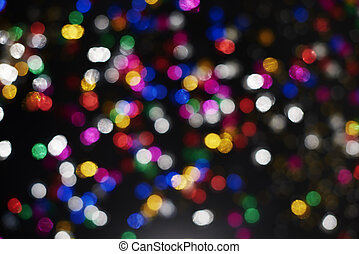 Picture of flashing colorful lights