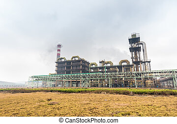 sulfuric acid factory use pyrite as raw material to product...