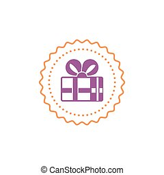 Gift box icon, special present idea - Celebration event,...