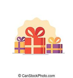 Gift box icon, special present idea - Celebration event,...