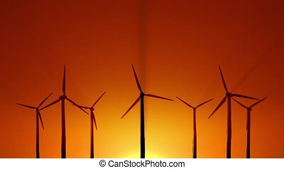 Wind power at sunrise