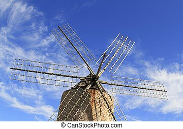 Salt windmill traditional Formentera Ibiza Balearic islands