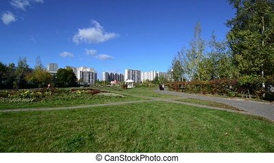 City landscape of district Zelenograd, Russia - City...